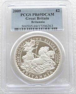 2009 Royal Mint Britannia £2 Two Pound Silver Proof 1oz Coin PCGS PR69 DCAM