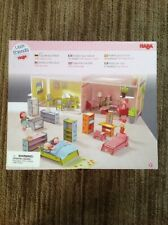 HABA Little Friends Deluxe Dollhouse Furniture -19 Pieces for 5 Rooms