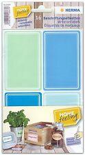 16 Beschriftungsetiketten 52 x 82 mm, blau/grün, ablösbar, HERMA 10665