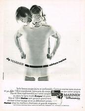PUBLICITE ADVERTISING 045  1969  MARINER  sous vetements homme & garçon