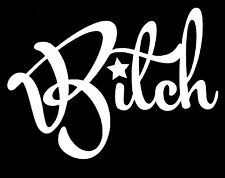 BITCH DECAL STICKER WITCH FUNNY TRUCK CAR SUV HONDA FORD DODGE CHEVY VW JDM