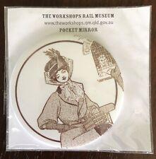 Ipswich Railway Workshops Museum Souvenir Heritage Collectible Pocket Mirror