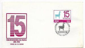 PERU 1984 15TH INTERNATIONAL PACIFICS FAIR LAMA 1 VALUE ON FDC COVER VF