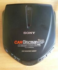 Sony D-M801 Discman Portable Cd Player Tested Works Great Mega Bass Black + Case