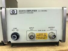 Agilent HP KEYSIGHT 8447A amplifier 0.1 to 400 MHz