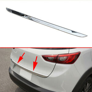 Accessories For Mazda CX3 2016-2020 Chrome Tail Gate Door Trunk Lid Cover Trim