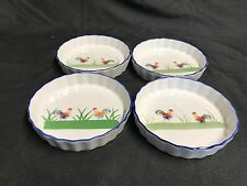 "BIA Blanc de Table ""ROOSTER""  ~ Set of 4 ~ Ramekins / Tart Dish ~ 5"""