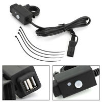 Waterproof Motorcycle SAE to Dual USB Port Charger Adapter For GPS Mobile Phone*