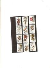 serie sur les fleurs et metier d art  de 1410 a 1421 obliterés autoadhesifs