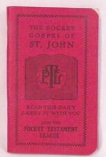 The Pocket Gospel of St. John Booklet Religious Vintage Testament League