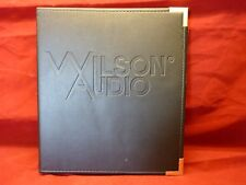 Wilson Audio Watch Center Channel Speaker Leather Bound Owners Manual Rare