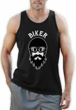 Graphic Tee Motorcycle Sleeveless T-Shirts for Men