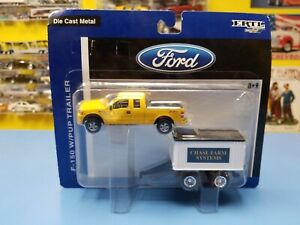 """ERTL / RC2   FORD F-150 W/ PUP TRAILER  """" CHASE FARM SYSTEMS""""  """"NEW"""""""