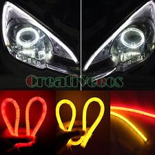 2x Yellow/Red 60CM Car SUV 12V Guide SMD LED Strip Light Turn Signal Tail Light
