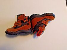 Toddler Primigi Gore-tex Orange & Brown Boots with velcro EU Size 20/ US Size 4