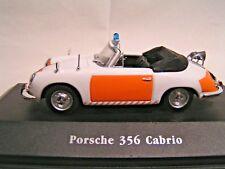 IXO / ATLAS 1/43   -  VOITURE DE POLICE PORSCHE 356 CABRIOLET  (EN BOÏTE)