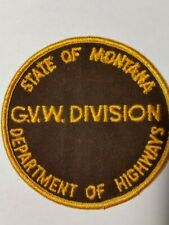 MONTANA DEPARTMENT OF HIGHWAYS PATCH