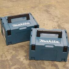 2 cajas de herramientas Makita MakPack Conector Plástico/llevan casos tipo 3.