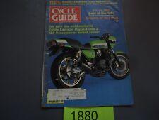 Cycle Guide Magazine KX Vs RM Kawasaki KZ1000R November 1982 KX VS RM XS400