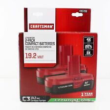 NEW Craftsman C3 19.2 Volt Compact Lithium Ion Two (2) Battery Packs 9-35709