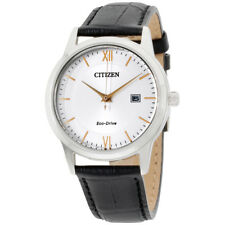 Citizen Corso Silver Dial Leather Strap Men's Watch AW1236-03A