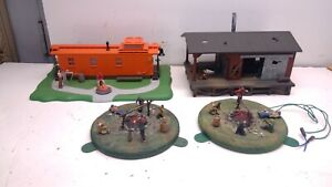 Vintage Lionel/MTH Layout Accessories-HOBO's Diorama lot-(K86)