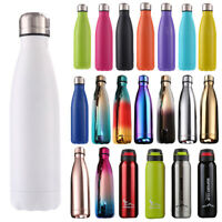 500ML Water Bottle Vacuum  Flask Thermal Chilly Cold Mug Cup Portable Thermo