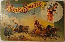 ANTIQUE RARE 1887 CIRCUS GAMEBOARD NY ELEPHANT DOGS CLOWNS SANTA CLAUS TRAIN NYC
