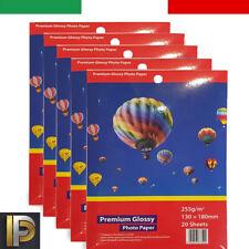 100/fogli di Carta fotografica lucida//dimensioni 13/x 18/cm//High Glossy 220/G//M/²