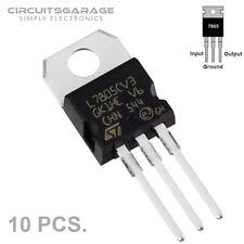 10 X St L7805Cv L7805 7805 Positive Voltage Regulator 5V 1A To-220 Ic - Usa