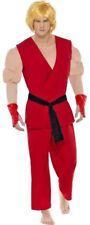 Mens Street Fighter Ken Costume Video Game Streetfighter Halloween Fancy Dress