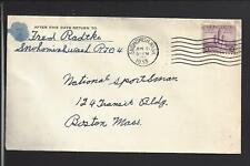 SNOHOMISH, WASHINGTON,1933 COVER TO BOSTON. SNOHOMISH CO. 1861/OPEN.