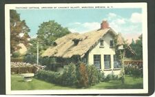1920's Postcard Thatched Cottage Grounds Of Chauncey Olcott Saratoga Springs NY