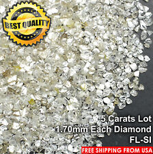 100% NATURAL Loose Rough Diamonds Fancy White FL-SI 1.70mm FLAT SHAPE 5crts Lot