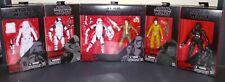 Star Wars Black Series 6 Figure Lot Snowtrooper Storm Trooper TIE Fighter Pilot