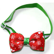 Top Polyester Pet Puppy Dog Bow Tie Necktie Bowknot Adjustable Collars With Bell