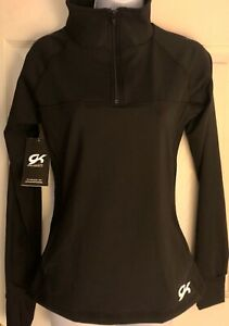 GK ACTIVE TEK ADULT SMALL BLACK PULL OVER 1/4 ZIP-UP WARM-UP JACKET Sz AS NWT!