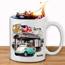 Personalised BMW Isetta Car Mug Cup Dad Custom Gift - Add Name
