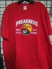 2016 PREAKNESS 141 - MAY 21 - PIMLICO - BALTIMORE  RED   -  X-LARGE LOGO SHIRT