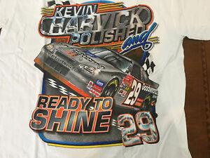 2002 Vintage NASCAR Kevin Harvick Goodwrench Polished Jumbo Print Shirt NOS Med