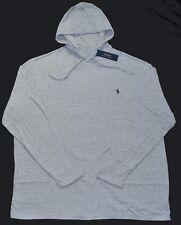 New 2XB 2XL BIG 2X Polo Ralph Lauren Mens hooded cotton T-shirt hoodie Tee Gray