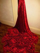 1M RED 4 WAY STRECH DRESS COSTUME/ SWIM SUIT VELOUR VELVET FABRIC 58INCES WIDE