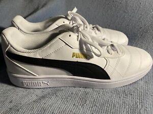 Puma Astro Kick Men's Casual Shoes 370167-01 White/Black Sz 10