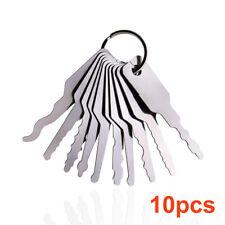 10Pcs Emergency Car Opening Kit Access Door Easy Keys Tool Auto Locks Set