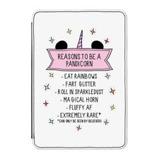 """Reasons To Be A Pandicorn Case Cover for Kindle 6"""" E-reader Funny Panda Unicorn"""