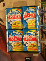 "Box 36 Packs Topps Baseball ""The Real One"" Bubble Gum Cards 1989"