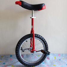 Luxus Einrad 16 Zoll höhenverstellbar Unicycle Fahrrad mit Schnellspanner Kinder