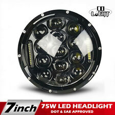 DOT E-Mark 7'' Round LED Headlight  Hi/Lo DRL For  Wrangler JK LJ TJ Kenworth