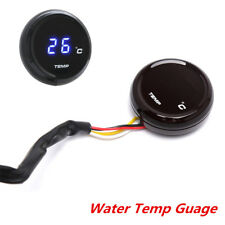 12V Car Motorcycle Water Temp Gauge With Sensor Wires Blue LED Digital Display
