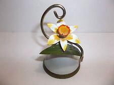 Vintage Enameled Metal Bell Daffodil Jonquil
